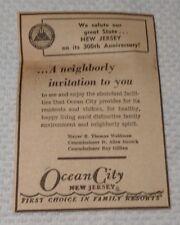 1964 Ocean City New Jersey Advertisement