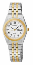 Seiko Women's Two-Tone Solar Dial Stainless Steel  Watch  - SUT116  *NEW IN BOX*