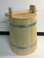 Wooden Crock Fermentation Vat Food Preserve Bucket 2 Liter 0.5 Gallon