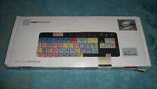 clavier ordinateur LOGIC KEYBOARD avec lampe - adobe 1ere pro CC SL Nero - TBE