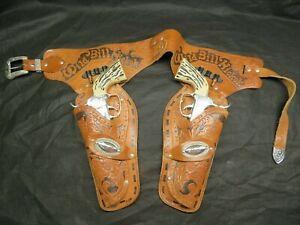 ANTIQUE WILD BILL HICKOK HOLSTER & CAP GUN SET ~ COWBOY DRESS UP ~ TOY GUN
