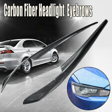 Headlight Eyelids Eyebrows Trim Carbon Fiber For Mitsubishi Lancer EVO X 08-14