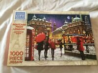 WHSmith City Breaks 1000 Piece Jigsaw Puzzle - Postcard From London (In Snow)
