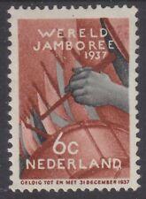 Nederland plaatfout 294PM: 6 ct Wereldjamboree 1937 postfris (MNH)