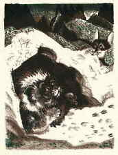 LÖWE & FUCHS - Ludwig Heinrich JUNGNICKEL - Original FarbLithographie 1919