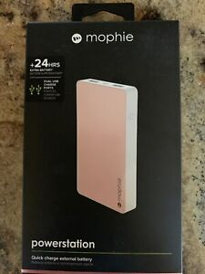 mophie - Powerstation 6000 mAh Portable Charger for USB devices - Rose gold