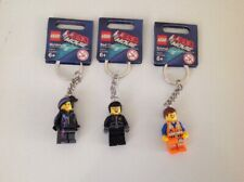Lego Movie  Wyldstyle, Emmet & BadCop  Minifigure Keys Chain .LOT  New With Tags