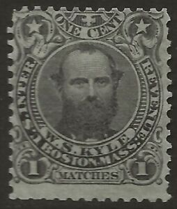RO 122a-WS KYLE-MATCHES 1 CENT  MATCH AND MEDICINE STAMP--74