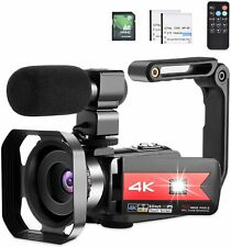 Video Camera 4K Camcorder Vlog Camera for YouTube, HD Digital Camera with 16X Di