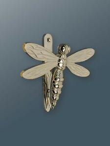 Brass Bee Door Knocker - Nickel Finish - Solid Brass Dragonfly Door Knocker