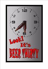 BIRRA O 'Clock Sign, BAR SIGN INSEGNA PUB CUCINA Segno Muro Segno Birra Cartello BAR LOCALE