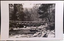 COFFEE CREEK, CALIFORNIA, Photo Post Card Trinity County, BRIDGE, 1949