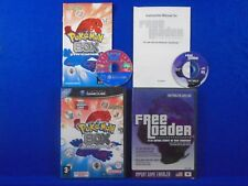 gamecube POKEMON BOX Ruby & Sapphire + FREELOADER Import Games On Your Gamecube!