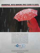 10/1990 PUB ARIANESPACE ARIANE SPACE ESPACE FUSEE CNES SATELLITE PARAPLUIE AD