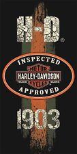 Harley Davidson Motorcycle Beach Bath Stressed Towel 30x60 HD 1903