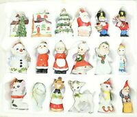 VINTAGE Hand Painted-Hand Crafted BEAUTIFUL Glass Christmas Ornaments Lot of 18