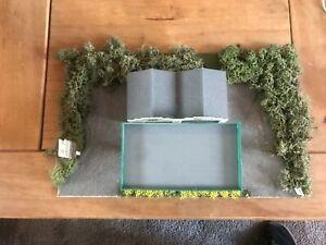 Model Railway Diorama of Scratch  Built Petrol Station 00 Gauge