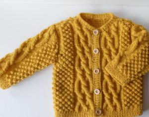 Hand-knitted baby jacket, 1-year-old waistcoat, baby knit, handmade