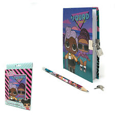 LOL Surprise Squad Lockable Diary Journal With Lock & Pencil Kids Note Pad 8522
