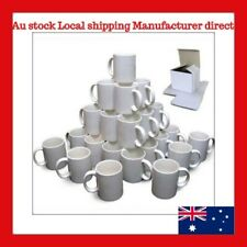 Quality 11oz 36 White Sublimation Coated Mugs with Individual Gift Boxes
