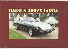 DATSUN 280ZX TARGA SALES BROCHURE  MARCH 1983 - PRICE REDUCED
