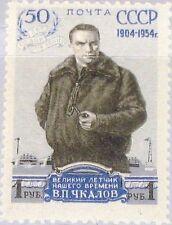 Russia Unión Soviética 1954 1695 a 1693 Valerii p. Chkalov Airplane piloto aviador mnh