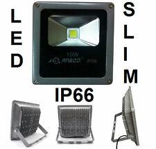 Faro LED SLIM ultra sottile.IP66,bianco caldo.10W.Esterno,impermeabile,t.stagna