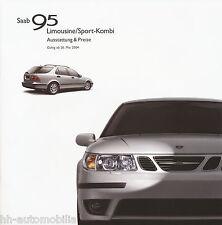 Liste de prix 2004 saab 95 berline sport Kombi 26.5.04 price List voiture voitures