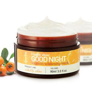 Aperire Good Night Vitamin Whitening Mask Cream Face Moisture Skin Care 3.0 oz