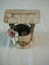 Vintage Capodimonte Wishing Well, New w/Label, Ceramic Porcelain, Made In Italy