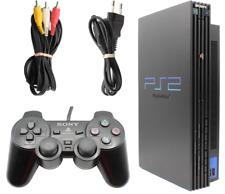 Sony Playstation 2 - Fat Lady - Schwarz + Controller + Anschlusskabel - getestet