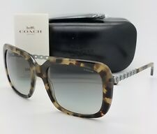 eebe546abf New Coach sunglasses HC8237 551811 57mm Tortoise Gradient Chain Butterfly  8237