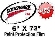 "Bulk Roll Film 6"" x 72""  Genuine 3M Scotchgard Paint Protection Clear Bra"