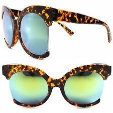9bbb082d6a Classic Vintage Moda grandes Verde Lente Espejado Redondo Gafas de sol  tortuga