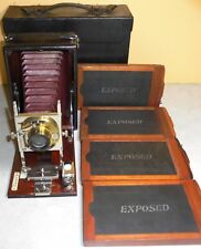 "Vintage Conley 3-1/4"" x 5-1/2"" Vertical Folding Camera with Case ANTIQUE"