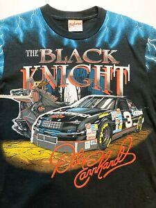 VTG 90s Dale Earnhardt #3 Black Knight NASCAR GoodWrench Print TShirt, Men's XL