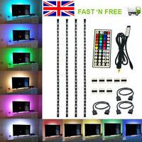 4PCS USB Strip Light Mood Light RGB LED Multi Color TV Backlight Remote Control
