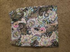 Talbots Women Casual Mid-Length Skirt 10 Paisley Blue Pink Grey Green Great!