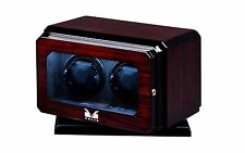 Volta Automatic Double Watch Winder with Rotating Base (Rosewood) Dual Motor 2
