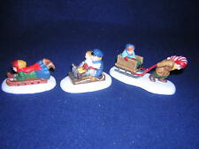 Department 56 New England Let'S Go One More Time Sledding New Never Displayed