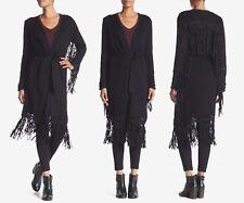 NWT$795 Haute Hippie The Engram Faux Suede Fringe Cardigan Sweater [SZ XS] #M762