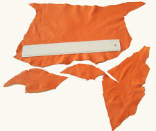 ORANGE LEATHER REMNANTS -  #2918 -  CRAFTS, TOYS