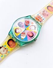 RARE New in Box SWATCH Standard Gents GL107 Sweet Baby Swiss Watch Babies 1996