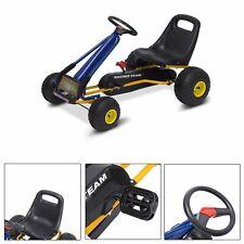 HOMCOM Go Kart Coche de Pedales para Niños 3-8 Año Freno 96x68x56cm Marco Acero