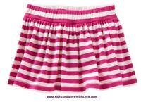 Baby Gap NWT Pink STRIPE KNIT DRESS SKIRT SKORT LUXE PARTY BOTTOMS 3 6 12 18 24