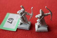 Games Workshop Warhammer High Elf White Archers Elves Metal Marauder Figures OOP