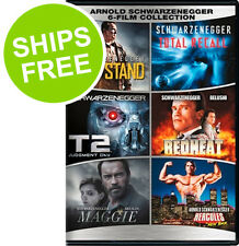 Arnold Schwarzenegger (DVD)New,Last Stand, Total Recall, T2, Maggie, Redheat