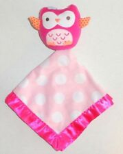 Circo Pink Owl Baby Security Blanket White Polka Dots Target Nunu P74
