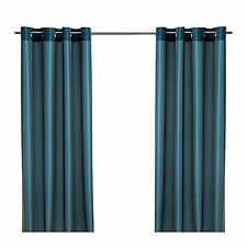 """Brand new IKEA PARLBUSKE 1 Pair of Curtains Green-blue 57""""x98"""" - 2 panels"""