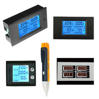 0-100A LCD Volt Current Watt Kwh Meter Power Energy Ammeter Voltmeter AC 80-260V
